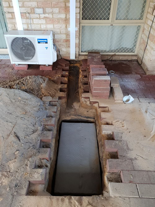 Sometimes an existing soakwell will require replacing.